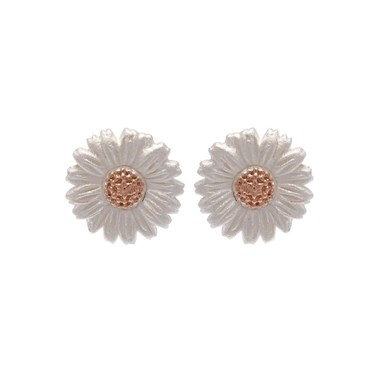 Olivia Burton Rose Gold Daisy Stud Earrings  - Click to view larger image