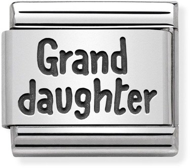 Nomination Silver Granddaughter Charm  - Click to view larger image