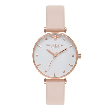 Olivia Burton Queen Bee Nude Peach Watch  - Click to view larger image