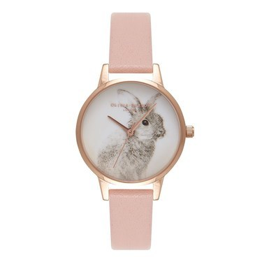 Olivia Burton Woodland Bunny Dusty Pink Watch  - Click to view larger image