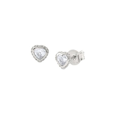 Nomination Silver Bella Heart Stud Earrings  - Click to view larger image