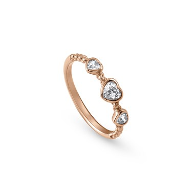 Nomination Rose Gold Bella Heart Ring  - Click to view larger image