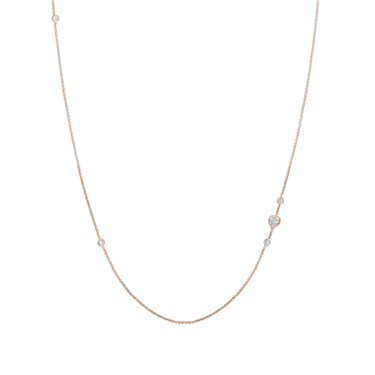 Nomination Rose Gold Bella Long Heart Necklace  - Click to view larger image