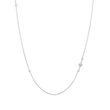 Nomination Silver Bella Long Heart Necklace  - Click to view larger image