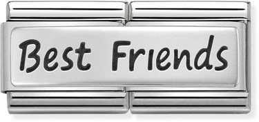 Nomination Silver Best Friends Double Plate Charm  - Click to view larger image