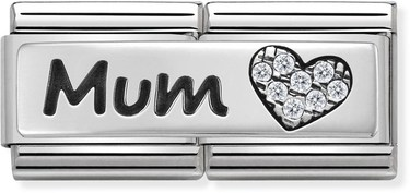 Nomination Silver Mum Double Plate Charm  - Click to view larger image