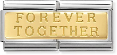 Nomination Forever Together Double Plate Charm  - Click to view larger image