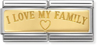 Nomination I Love My Family Double Plate Charm  - Click to view larger image