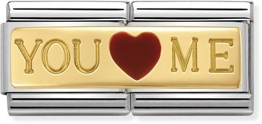 Nomination You & Me Double Plate Charm  - Click to view larger image
