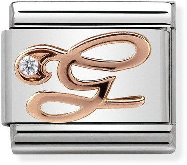 Nomination Rose Gold Letter G Charm  - Click to view larger image