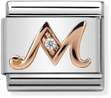 Nomination Rose Gold Letter M Charm  - Click to view larger image