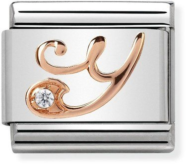Nomination Rose Gold Letter Y Charm  - Click to view larger image