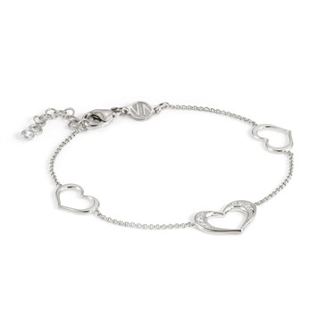 Nomination Silver Unica Heart Bracelet  - Click to view larger image