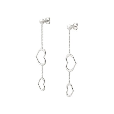 Nomination Silver Unica Long Heart Earrings  - Click to view larger image