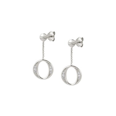 Nomination Silver Unica Circle Earrings  - Click to view larger image