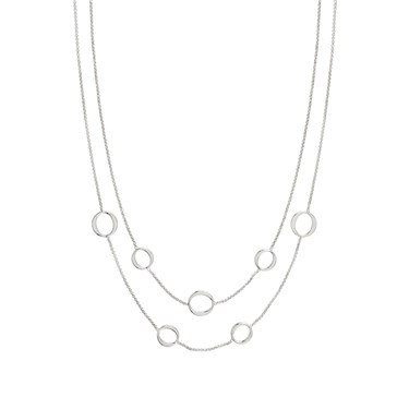 Nomination Silver Unica Layered Circle Necklace  - Click to view larger image
