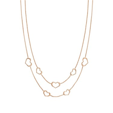 Nomination Rose Gold Unica Heart Layered Necklace  - Click to view larger image