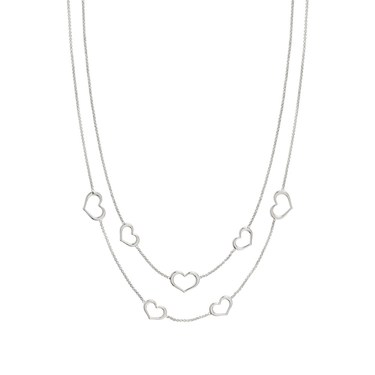 Nomination Silver Unica Heart Layered Necklace  - Click to view larger image