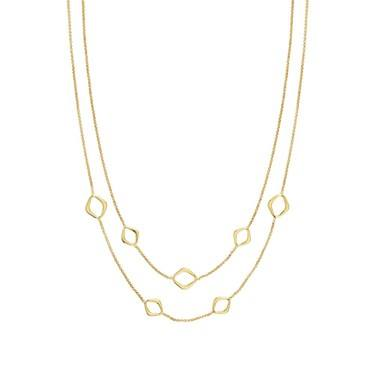 Nomination Gold Unica Layered Rhombus Necklace  - Click to view larger image