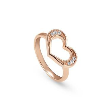 Nomination Rose Gold Unica Heart Ring  - Click to view larger image
