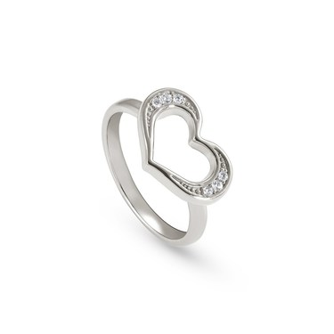 Nomination Silver Unica Heart Ring (Size M)  - Click to view larger image