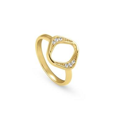 Nomination Gold Unica Rhombus Ring   - Click to view larger image
