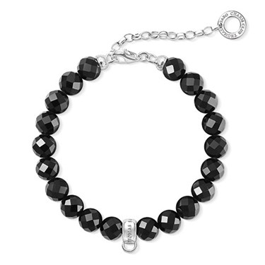 Thomas Sabo Black Obsidian Charm Bracelet  - Click to view larger image