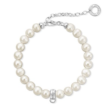 Thomas Sabo Pearl Charm Bracelet  - Click to view larger image