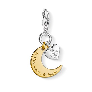 Thomas Sabo To the Moon and Back Charm  - Click to view larger image