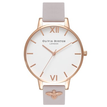 Olivia Burton 3D Bee Embellished  Blush Watch  - Click to view larger image