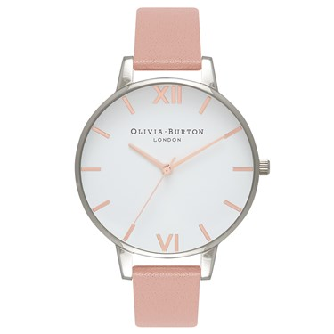 Olivia Burton Big Dial Dusty Pink & Rose Gold Watch  - Click to view larger image