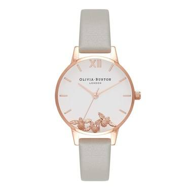 Olivia Burton Busy Bees Grey & Rose Gold Watch  - Click to view larger image