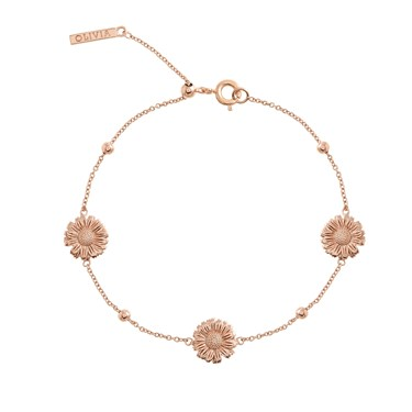 Olivia Burton Rose Gold Daisy Chain Bracelet  - Click to view larger image