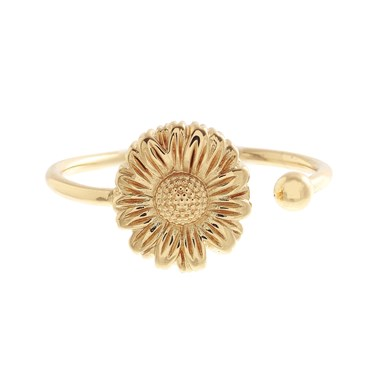 Olivia Burton Daisy Open Ended Gold Ring   - Click to view larger image