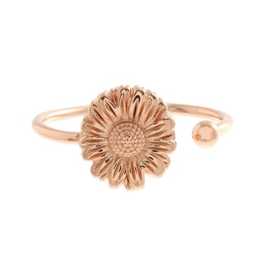 Olivia Burton Daisy Open Ended Rose Gold Ring  - Click to view larger image