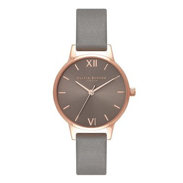 Olivia Burton Midi Grey Dial & Rose Gold Watch  - Click to view larger image