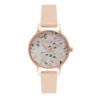Olivia Burton Vintage Marble Nude Peach Watch  - Click to view larger image