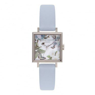 Olivia Burton Floral Midi Square Chalk Blue Watch  - Click to view larger image