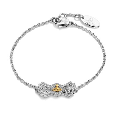 Vivienne Westwood Pamela Silver & Gold Bow Bracelet  - Click to view larger image