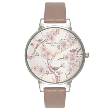 Olivia Burton Parlour Blossom Birds & Iced Coffee Watch  - Click to view larger image
