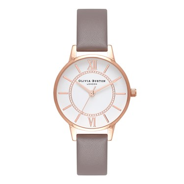 Olivia Burton Wonderland Grey & Rose Gold Watch  - Click to view larger image