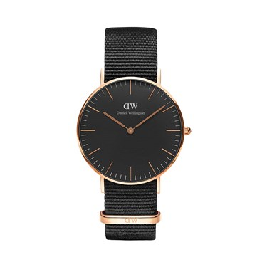 Daniel Wellington Classic Black Cornwall 36mm Watch  - Click to view larger image