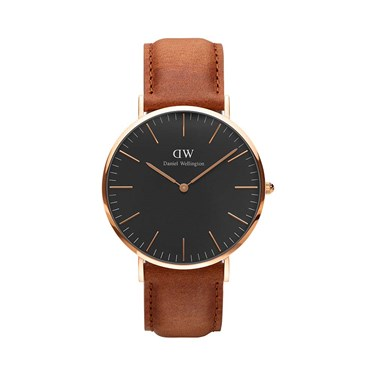 Daniel Wellington Classic Black Durham 40mm Rose Gold Watch  - Click to view larger image