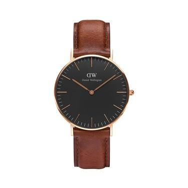 Daniel Wellington Classic Black St Mawes 36mm Rose Gold Watch  - Click to view larger image