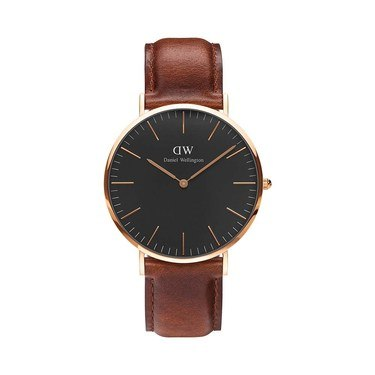 Daniel Wellington Classic Black St Mawes 40mm Rose Gold  Watch  - Click to view larger image
