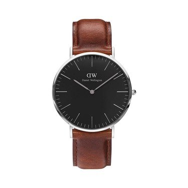 Daniel Wellington Classic Black St Mawes 40mm Silver Watch  - Click to view larger image
