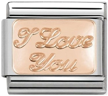 Nomination Rose Gold I Love You Charm  - Click to view larger image
