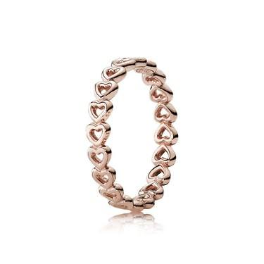 Pandora Linked Love Rose Ring  - Click to view larger image