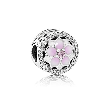 Pandora Magnolia Bloom Charm  - Click to view larger image