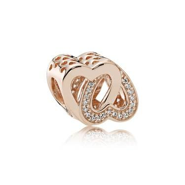 Pandora Entwined Love Rose Charm  - Click to view larger image